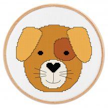 Kit point de croix - Princesse - Petit chien