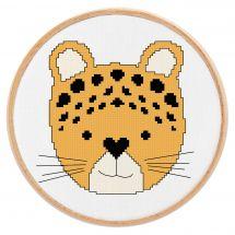 Kit point de croix - Princesse - Petit léopard