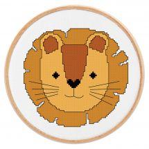 Kit point de croix - Princesse - Petit lion