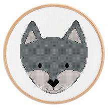 Kit point de croix - Princesse - Petit loup
