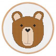 Kit point de croix - Princesse - Petit ours
