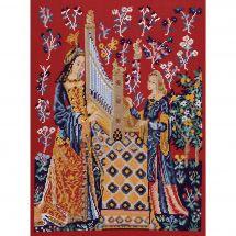 Kit point de croix - Princesse - Dame à la Licorne  L'ouie