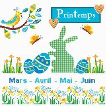 Kit point de croix - Princesse - Tableau printemps