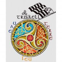 Kit point de croix - Marie Coeur - Triskell