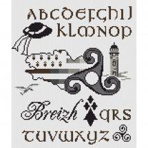 Kit point de croix - Marie Coeur - ABC Triskell