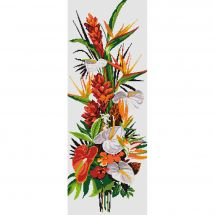 Kit point de croix - Princesse - Tableau les fleurs exotiques