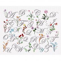 Kit au point de broderie  - Princesse - Abc fleurs sauvages