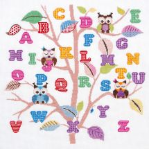 Kit point de croix - Princesse - ABC arbre aux chouettes