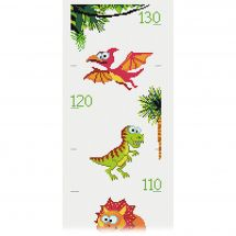 Kit de toise à broder - Princesse - Dinosaures