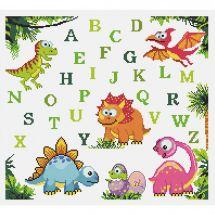 Kit point de croix - Princesse - Abécédaire dinosaures