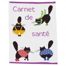 Kit de protège carnet à broder - Princesse - Color cats