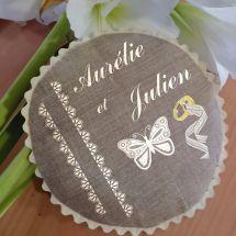 Kit de coussin à broder - Princesse - Papillon
