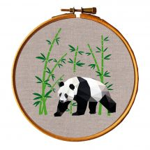 Kit de broderie sur tambour - Princesse - Panda