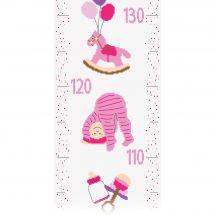 Kit de toise à broder - Princesse - Bébé fille