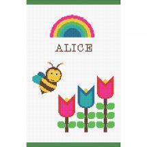 Kit de protège carnet à broder - Princesse - Abeille