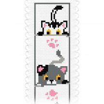 Kit de marque-pages à broder - Princesse - Petits chats