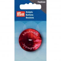 Boutons 2 trous - Prym - Bouton handmade rouge - 34 mm