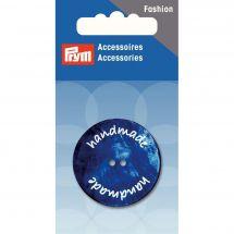 Boutons 2 trous - Prym - Bouton handmade bleu - 34 mm