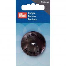 Boutons 2 trous - Prym - Bouton handmade gris - 34 mm
