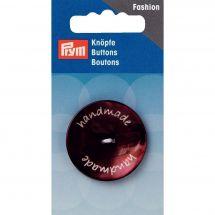 Boutons 2 trous - Prym - Bouton handmade marron - 34 mm
