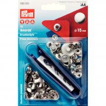 Boutons pression - Prym - Kit boutons pression Anorak - 15 mm