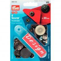 Boutons pression - Prym - Kit boutons pression Anorak - 20 mm