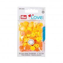 Boutons pression - Prym - 30 boutons à riveter Jaune / orange clair / orange foncé - 12.4 mm