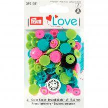 Boutons pression - Prym - 21 boutons fleurs - 13.6 mm
