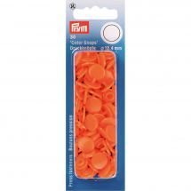 Boutons pression - Prym - 30 boutons à riveter orange - 12.4 mm