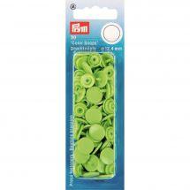 Boutons pression - Prym - 30 boutons à riveter vert pomme - 12.4 mm