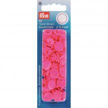 Boutons pression - Prym - 30 boutons à riveter rose - 12.4 mm