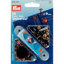 Oeillets et rivets - Prym - Rivets laiton coloris cuivre- 9 mm