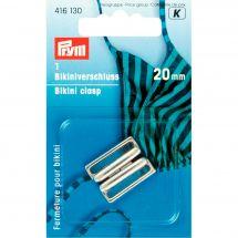 Accessoire lingerie - Prym - Clip pour bikini argent - 20 mm