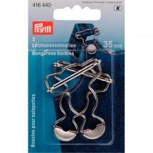 Accessoire fermeture - Prym - Boucles pour salopettes argent - 35 mm