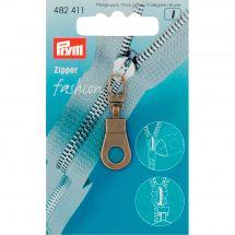 Tirette pour fermeture - Prym - Fashion zipper - oeillet laiton antique