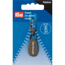 Tirette pour fermeture - Premax - Fashion zipper - Handmade gris