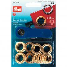 Oeillets et rivets - Prym - 10 oeillets coloris or - 14 mm