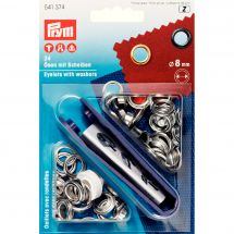 Oeillets et rivets - Prym - 24 oeillets coloris argent - 8 mm