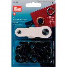 Oeillets et rivets - Prym - 15 oeillets coloris laiton bruni - 11 mm
