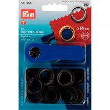 Oeillets et rivets - Prym - 10 oeillets coloris laiton bruni - 14 mm