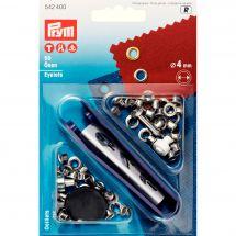 Oeillets et rivets - Prym - 50 oeillets coloris argent - 4 mm