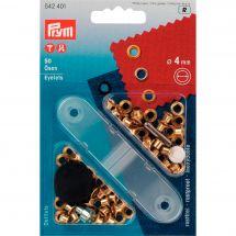 Oeillets et rivets - Prym - 50 oeillets coloris or - 4 mm