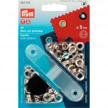 Oeillets et rivets - Prym - 40 oeillets coloris argent - 5 mm