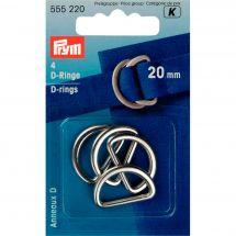 Accessoire pour sac - Prym - Anneaux en D - 20 mm argent