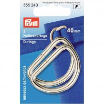 Accessoire pour sac - Prym - Anneaux en D - 40 mm argent