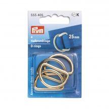 Accessoire pour sac - Prym - Anneaux en D - 25 mm or