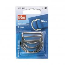 Accessoire pour sac - Prym - Anneaux en D - 30 mm argent foncé