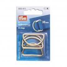 Accessoire pour sac - Prym - Anneaux en D - 30 mm or