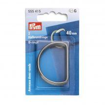 Accessoire pour sac - Prym - Anneaux en D - 40 mm argent foncé