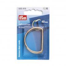 Accessoire pour sac - Prym - Anneaux en D - 40 mm or